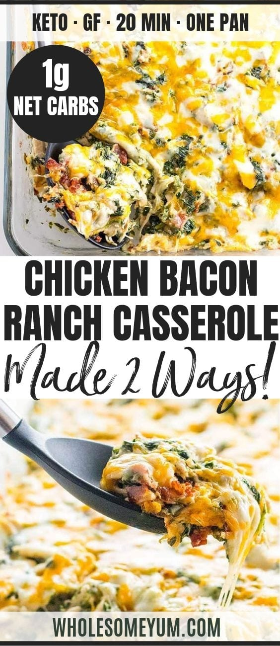 Chicken Bacon Ranch Casserole - Pinterest image