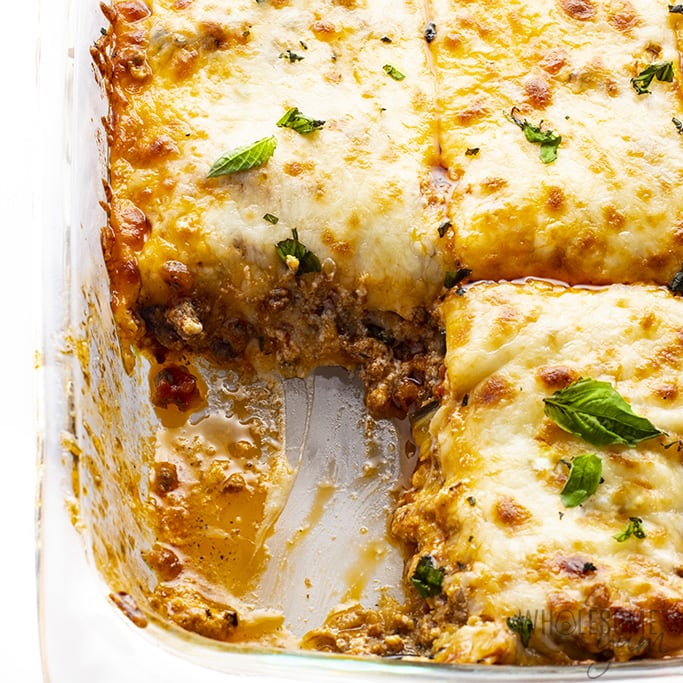Easy Keto Eggplant Lasagna Recipe Wholesome Yum