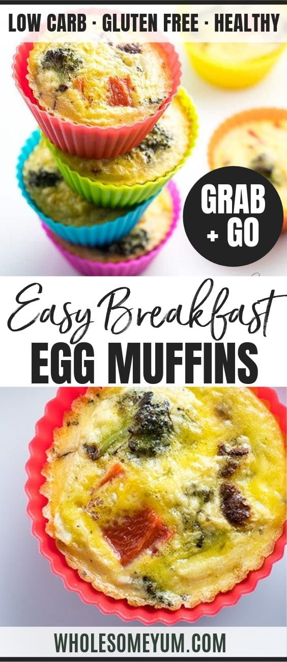 Healthy Paleo Breakfast Egg Muffin Cups - Pinterest image