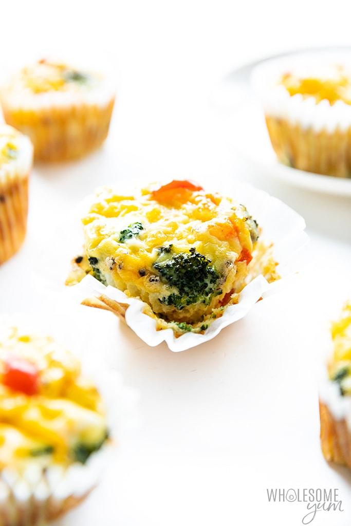 Baked keto egg muffin