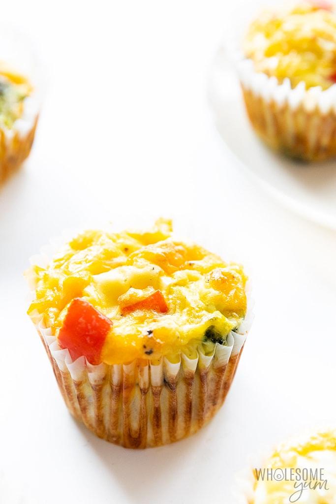 Keto egg muffin recipe close-up