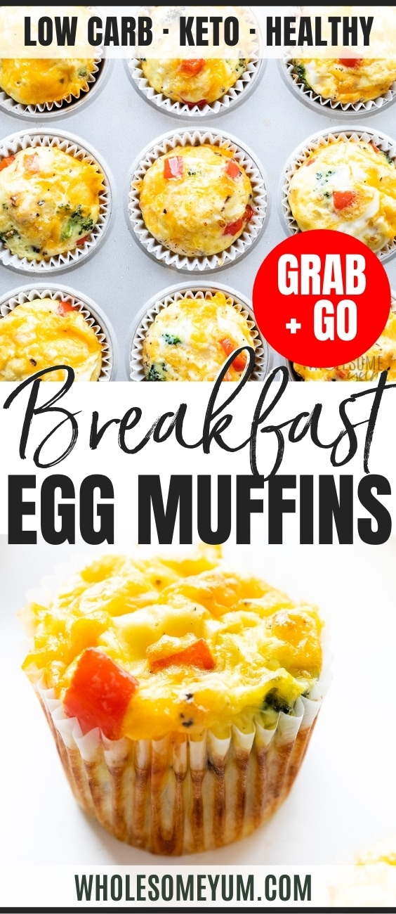 Breakfast egg muffin cups pin