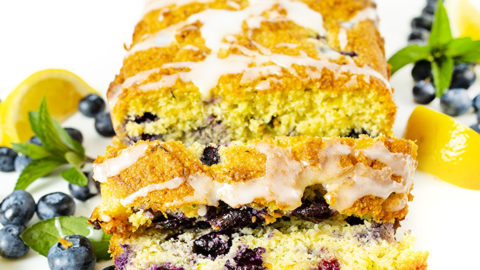Low Carb Keto Lemon Blueberry Zucchini Bread Recipe Wholesome Yum