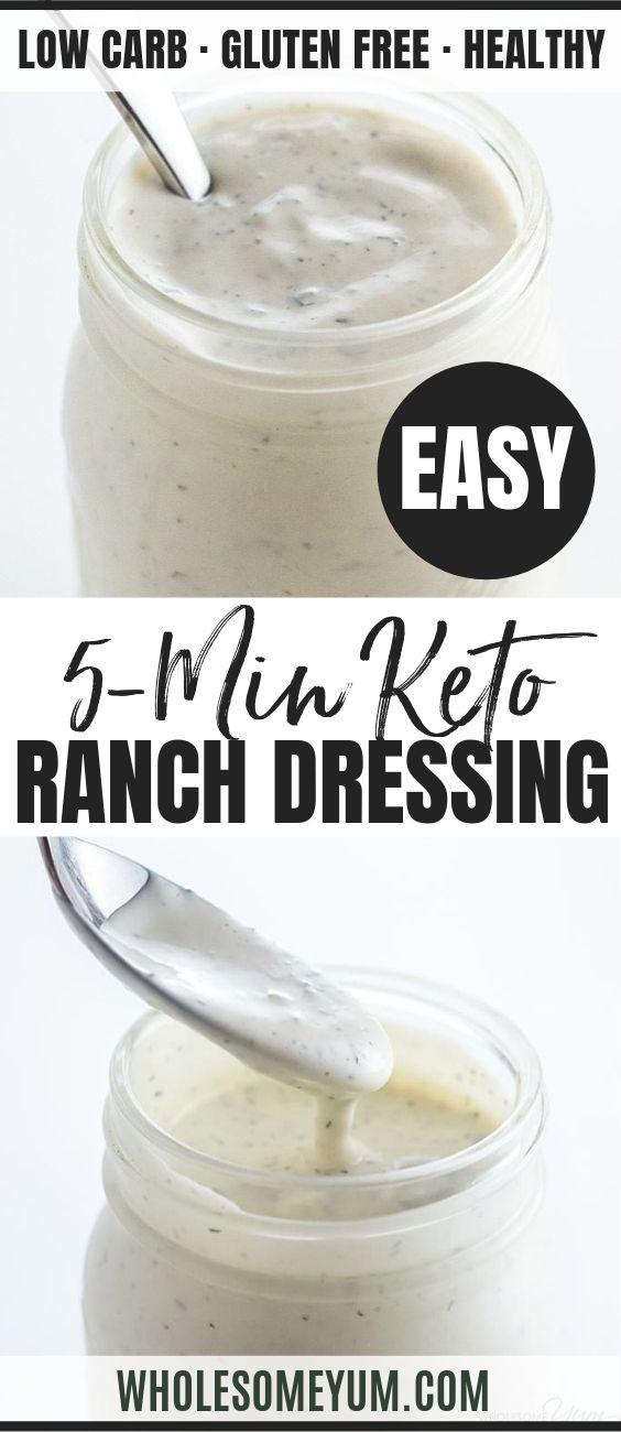 Low Carb Keto Ranch Dressing - Pinterest image