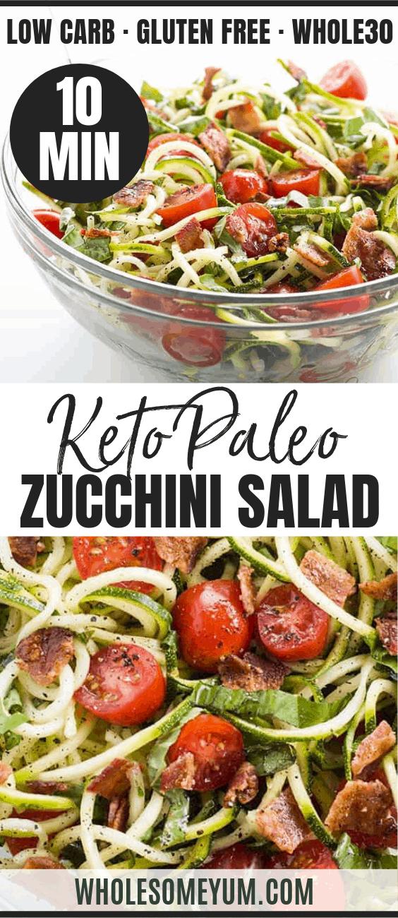 Zucchini Noodle Salad - Pinterest image