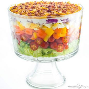 7-Layer Salad Recipe with Mayonnaise (Quick & Easy) - This quick & easy 7-layer salad recipe with mayonnaise takes just 15 minutes to assemble and is the perfect 24 hour salad made in advance. Healthy & simple! Detail: 7-layer-salad-recipe-quick-easy-img-4685-2