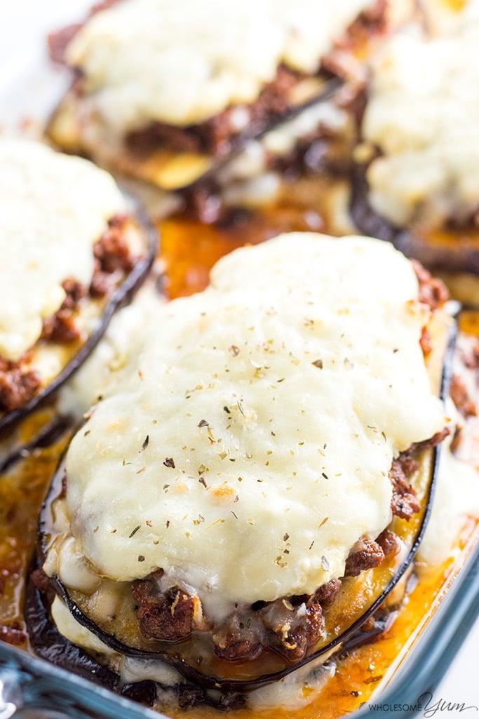 Low Carb Eggplant Lasagna Recipe Video Wholesome Yum