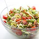 Zucchini Noodle Salad with Bacon & Tomatoes (Low Carb, Paleo)