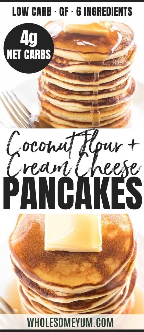 Easy Coconut Flour Pancakes - Pinterest image