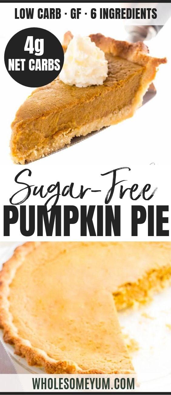 Easy Keto Low Carb Pumpkin Pie - Pinterest image