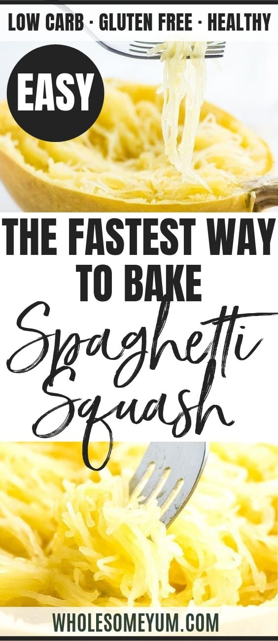 How to Bake Spaghetti Squash in the Oven - Pinterest image