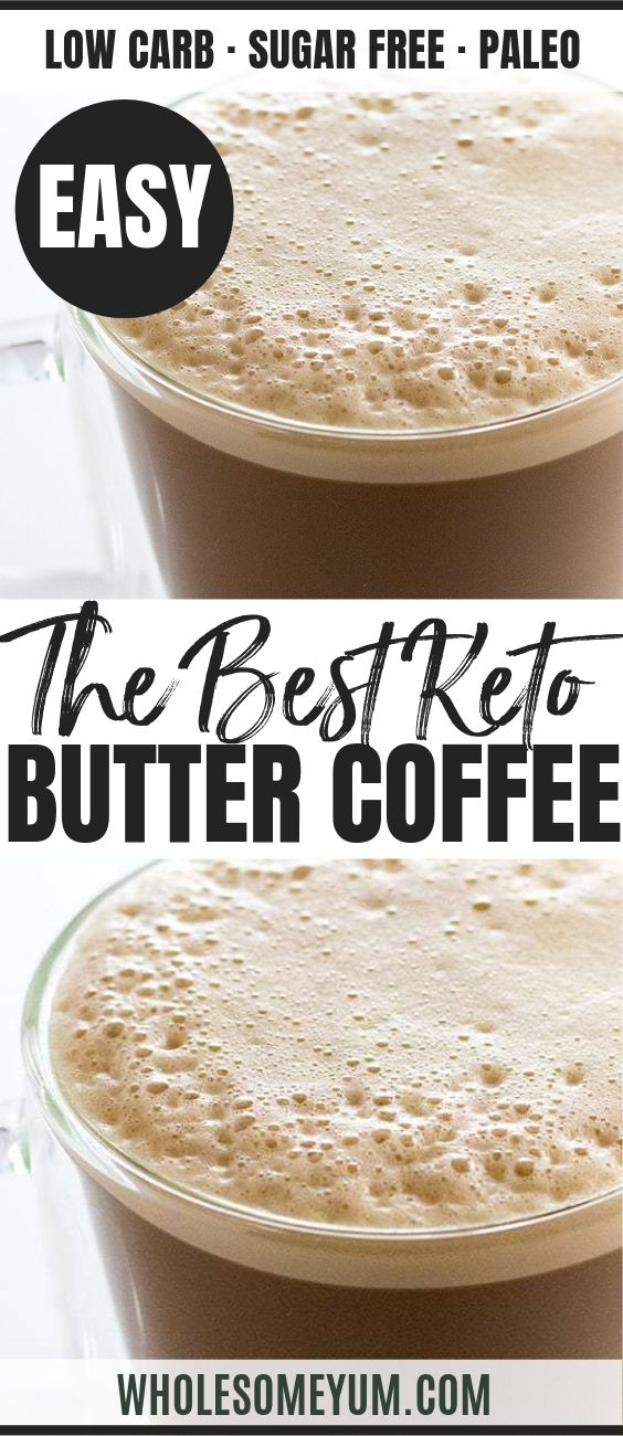 Keto Bulletproof Coffee - Pinterest image