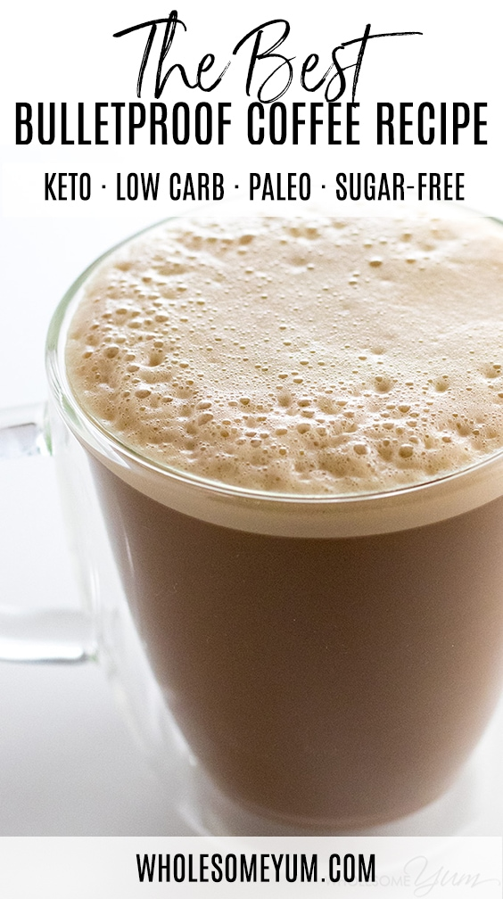 The BEST bulletproof coffee recipe with MCT oil! Plus, learn why to put butter in your coffee and how to make keto butter coffee... with a secret ingredient.