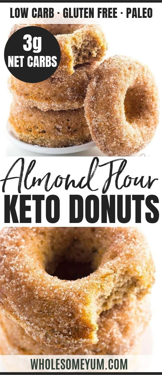 Low Carb Donuts - Pinterest image
