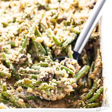 Low Carb Gluten-Free Keto Green Bean Casserole Recipe