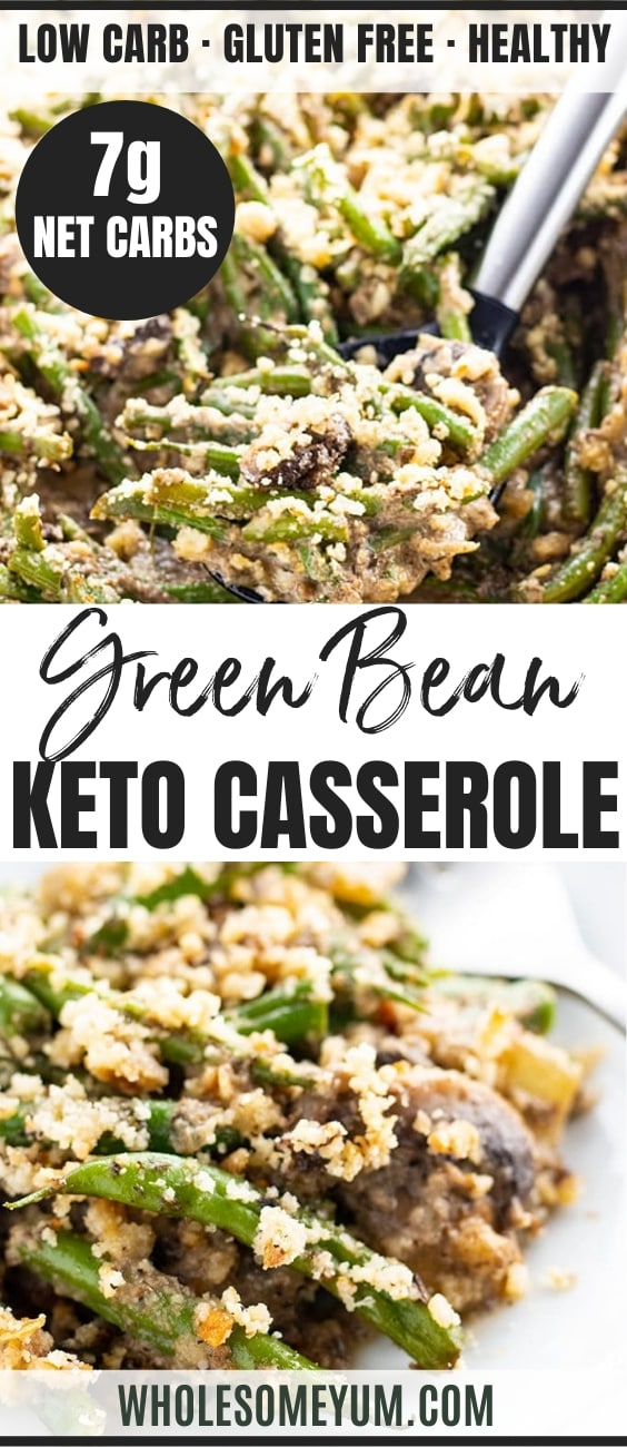 keto green bean casserole recipe - pinterest