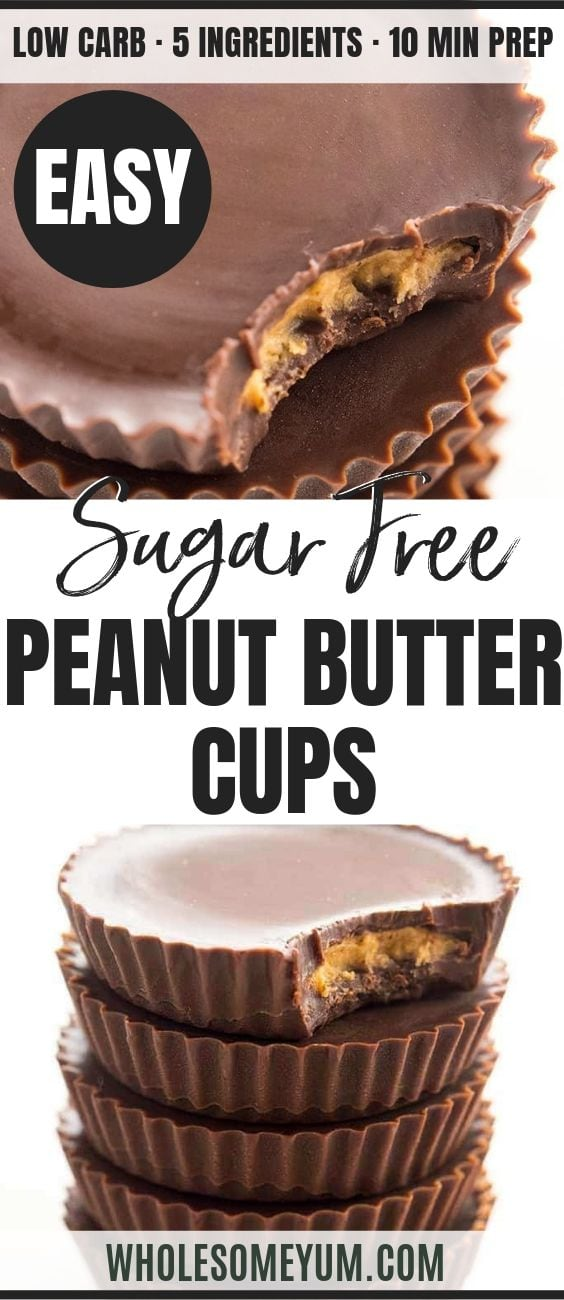 Sugar-Free Keto Peanut Butter Cups - Pinterest image
