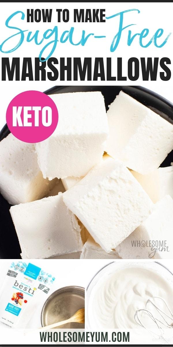 How to make keto marshmallows recipe pin