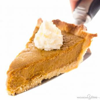 Easy Keto Low Carb Pumpkin Pie Recipe (Sugar-Free, Gluten-Free) - You only need a few ingredients for this easy keto low carb pumpkin pie recipe with almond flour crust. It will be your favorite sugar-free pumpkin pie! Detail: easy-keto-low-carb-pumpkin-pie-recipe-img-6908