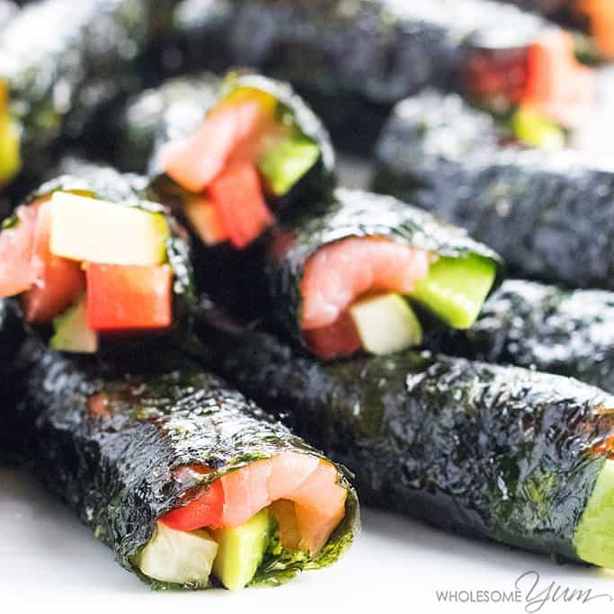 1b874523e115 Keto Low Carb Sushi Rolls Recipe without Rice (Healthy) - 5 Ingredients -  The