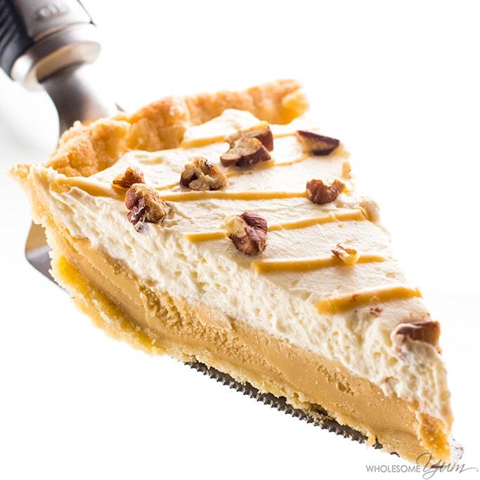 Keto Salted Caramel Pie