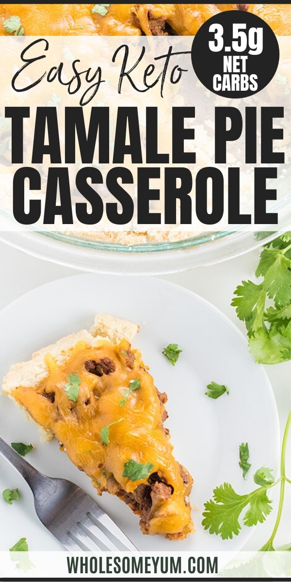 Easy Tamale Pie Casserole Recipe - Gluten Free - The whole family will love this easy tamale pie casserole with homemade enchilada sauce. No one will know it's gluten-free and takes 30 minutes!