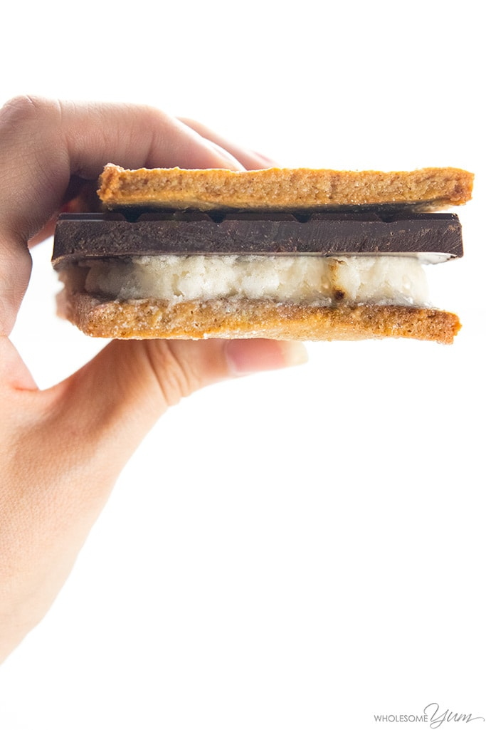 s'more made with graham crackers
