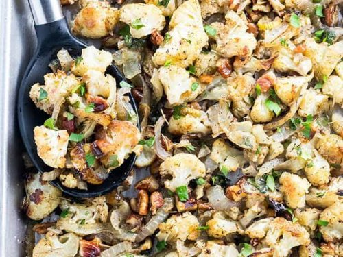 Low Carb Paleo Cauliflower Stuffing Recipe For Thanksgiving