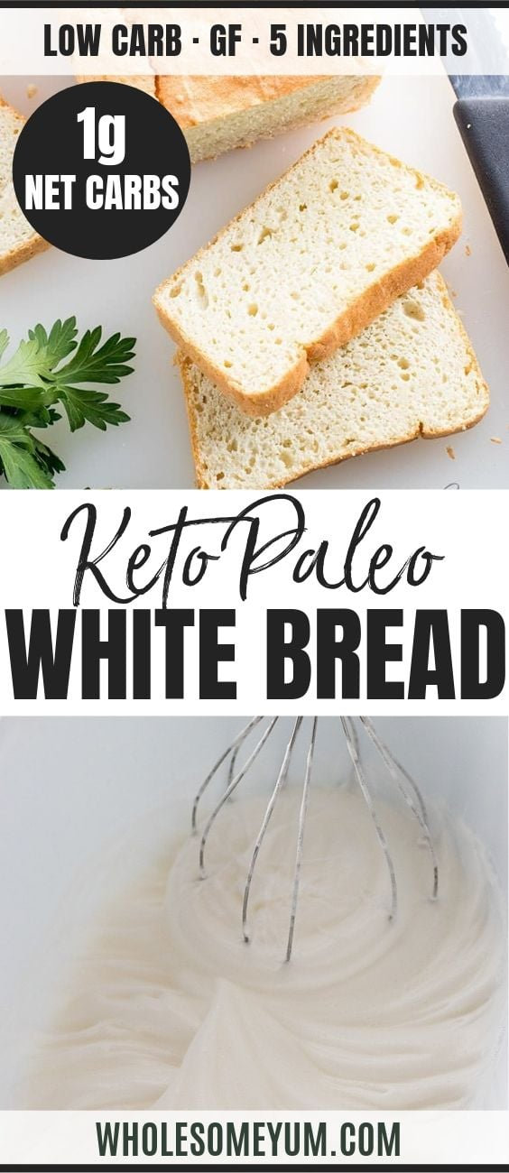 Easy Paleo Keto Bread - Pinterest image