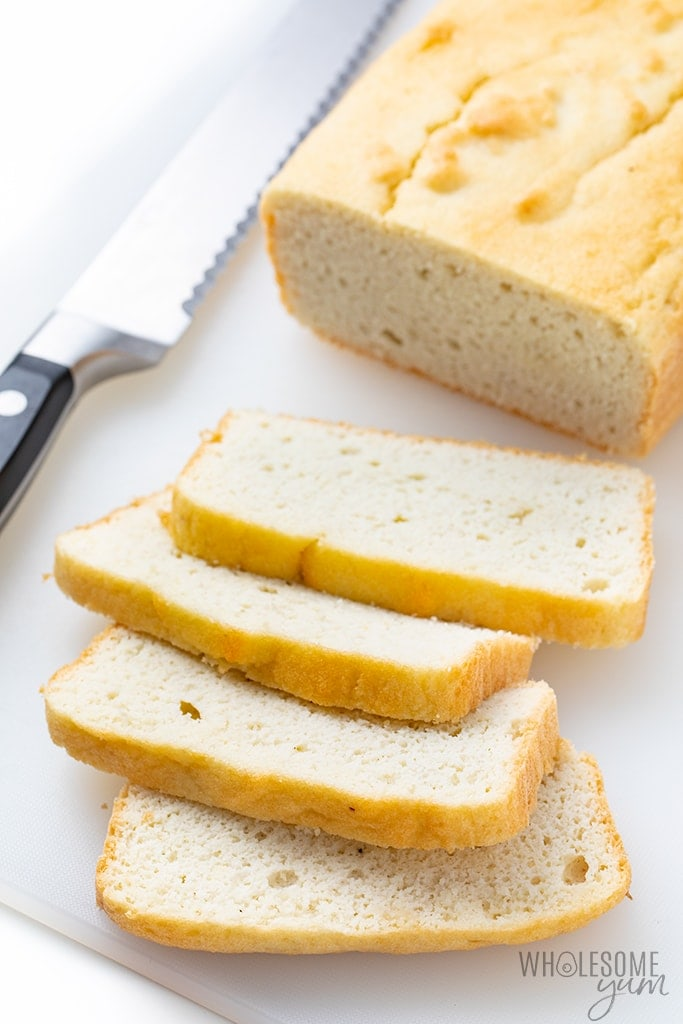 Keto white bread slices