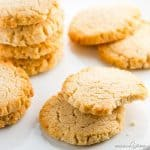 Low Carb Keto Cream Cheese Cookies Recipe - Quick & Easy - These low carb keto cream cheese cookies are so fast & easy to make! Just 6 ingredients, 10 minutes prep, and 15 minutes in the oven.