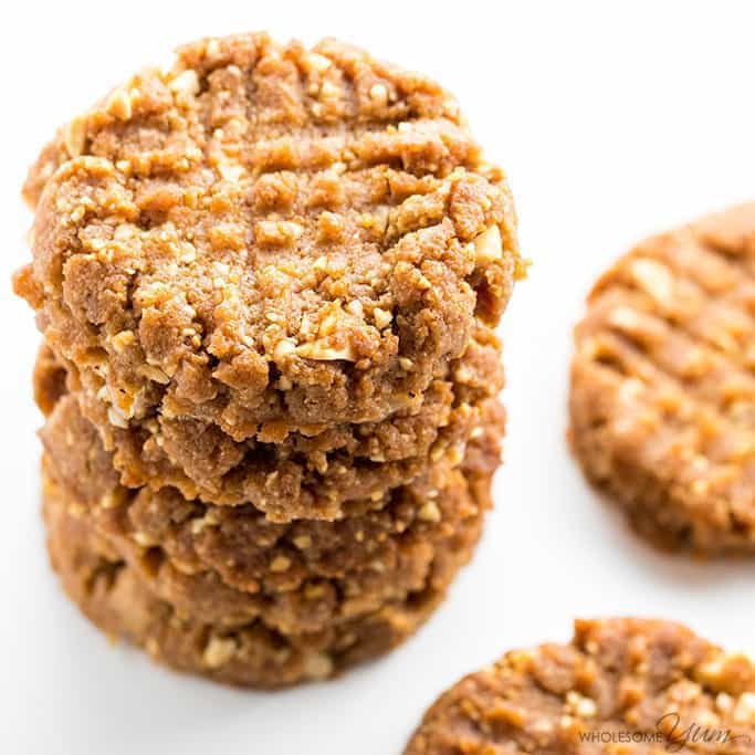 Sugar Free Low Carb Peanut Butter Cookies Recipe 4 Ingredients