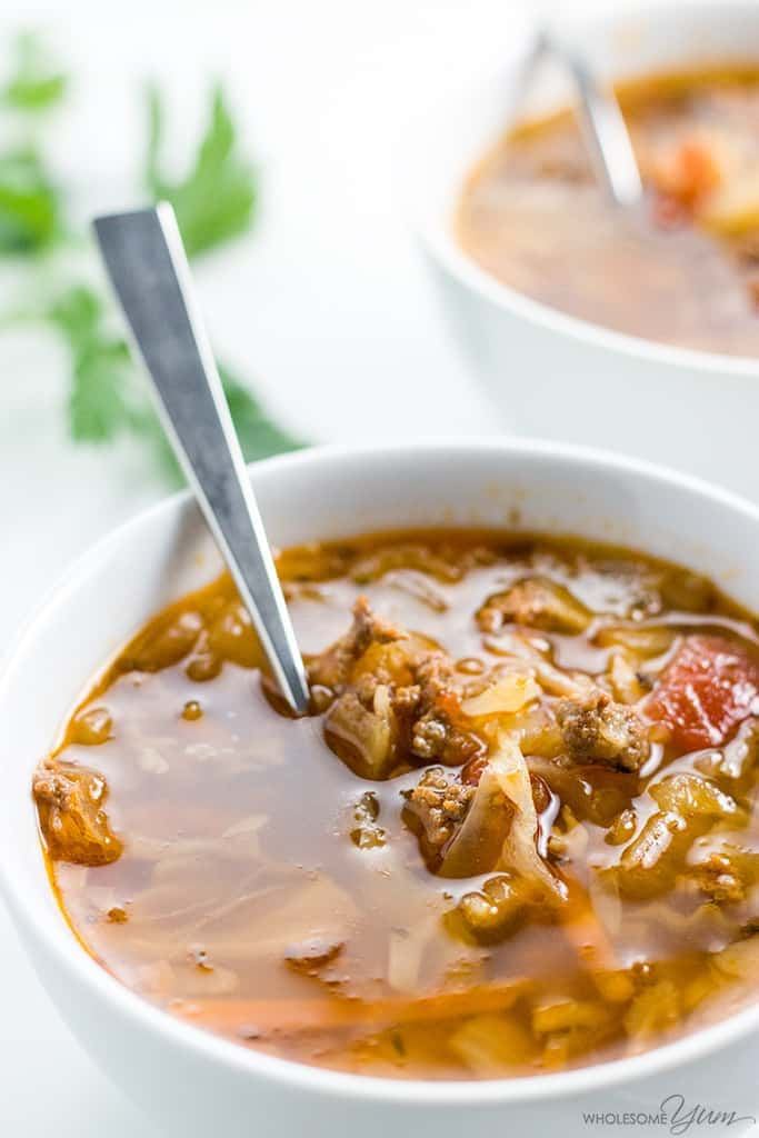 How To Make Cabbage Soup with Ground Beef - Crock Pot or Instant Pot Recipe - Learn how to make cabbage soup with ground beef, in a Crock Pot or Instant Pot. Simply the BEST cabbage soup diet recipe - or just a delicious dinner!