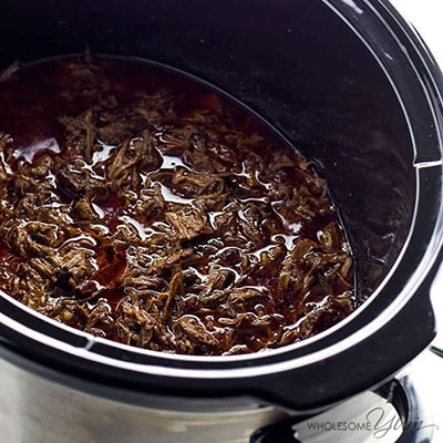Delicious Easy Low Carb Meals - Recipes & Meal Ideas - Chipotle Barbacoa Recipe Copycat in a Slow Cooker ( Low Carb, Paleo)