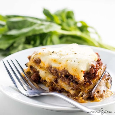 Eggplant Lasagna Recipe Without Noodles - Low Carb, Gluten-Free