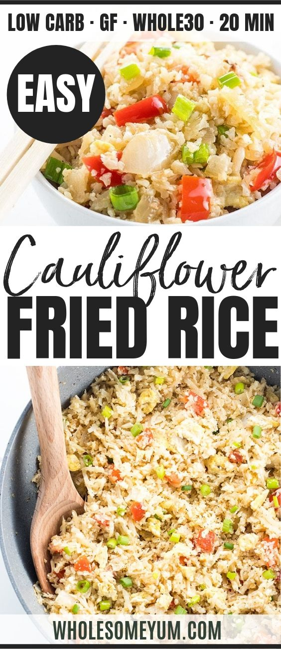 Easy Paleo Cauliflower Fried Rice - Pinterest image