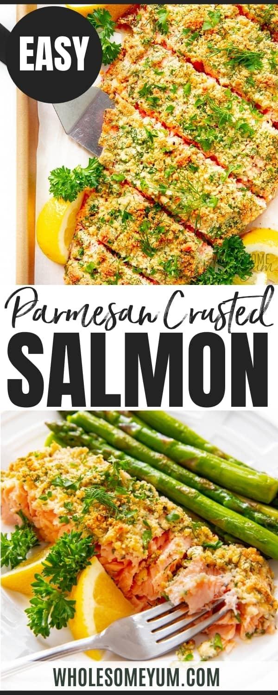 Healthy parmesan salmon recipe pin