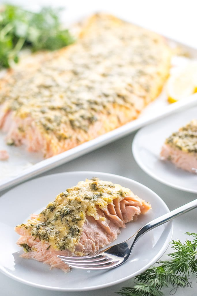 Crusted Pesto Salmon