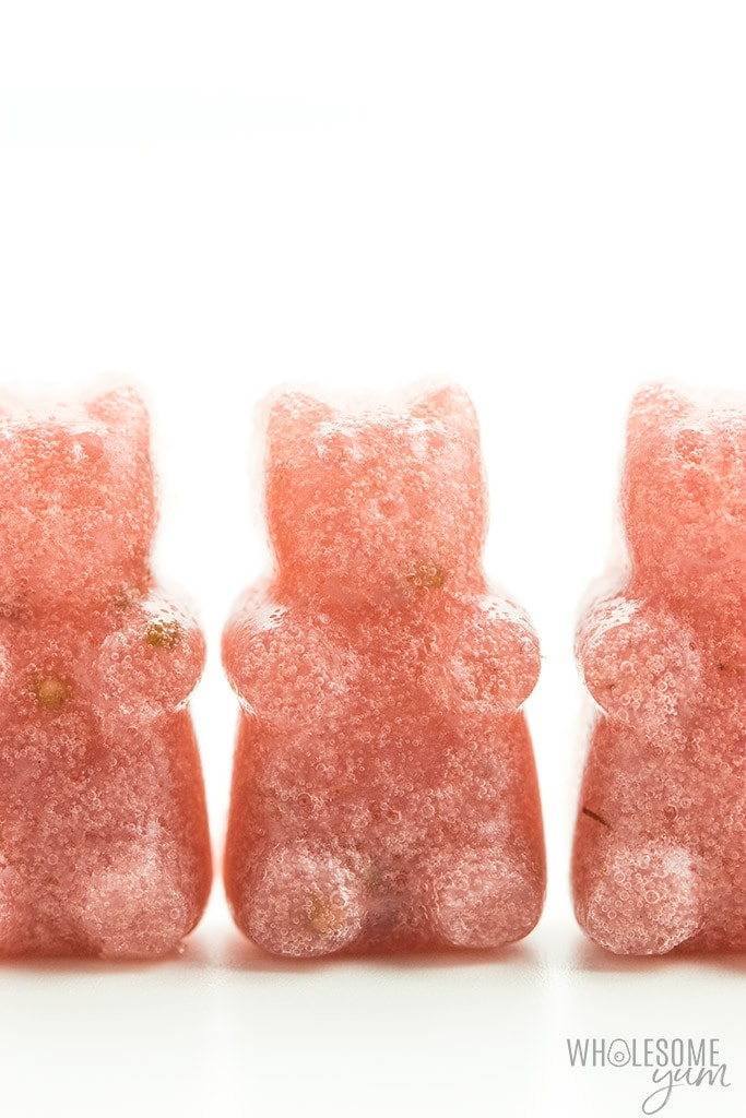 How To Make Pink Homemade Sugar-free Gummy Bears (Recipe)