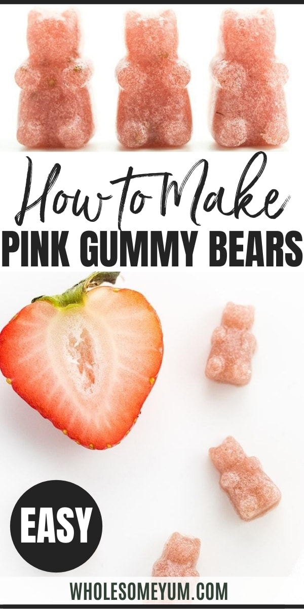 How To Make Pink Homemade Sugar-free Gummy Bears (Recipe)