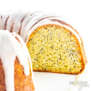 Side view of keto bundt cake
