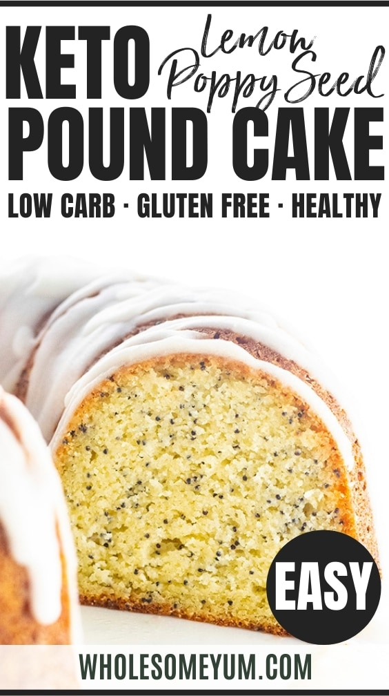 Keto lemon pound cake recipe pin