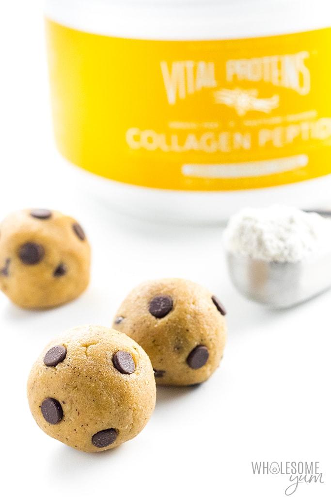 keto edible cookie dough recipe with collagen protein powder