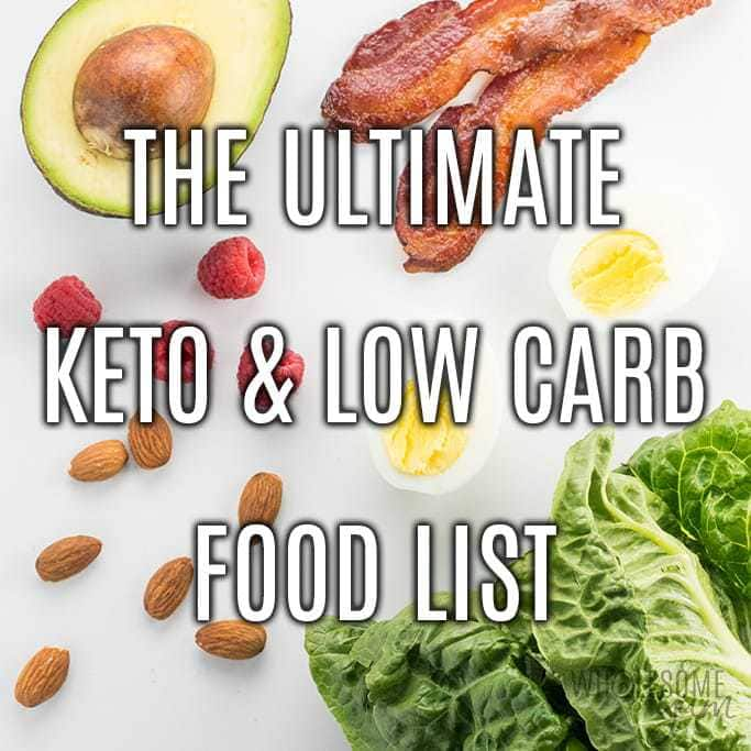 Low Carb Keto Food List With Printable Pdf