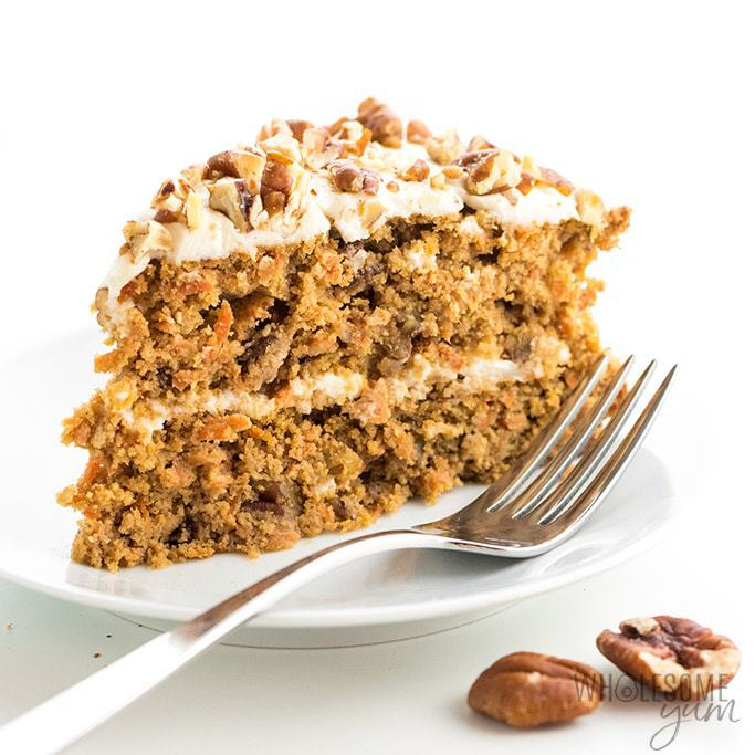 Superb Low Carb Keto Sugar Free Carrot Cake Recipe With Almond Flour Funny Birthday Cards Online Overcheapnameinfo