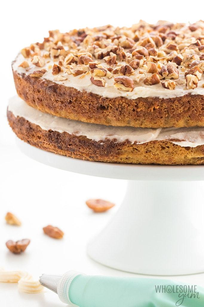 Low-Carb Sugar-Free Coconut Cake Recipe