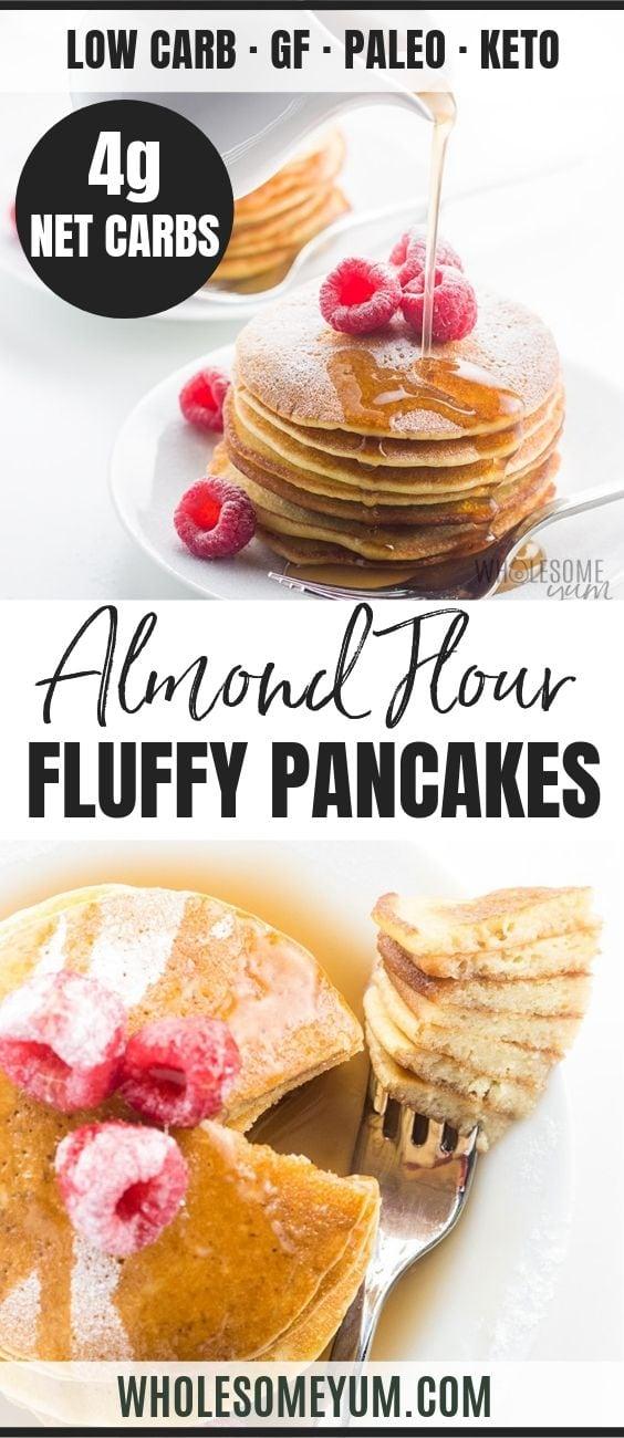 Easy Keto Almond Flour Pancakes - Pinterest image