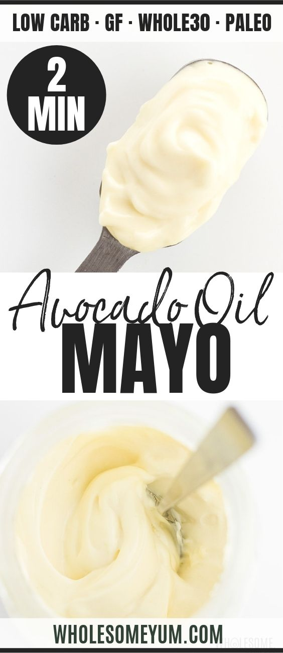 Easy Keto Paleo Mayo Recipe with Avocado Oil - Pinterest image