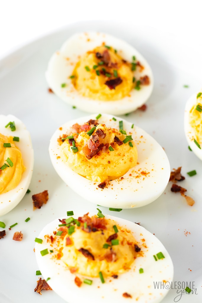 plate of easy deviled eggs