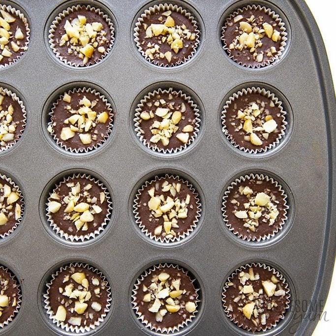 Keto fat bombs in mini muffin tin